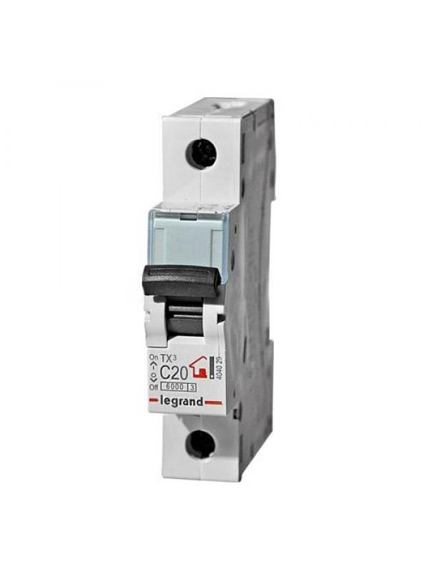 Автомат C 6А 1P 6кА (Legrand 404025)