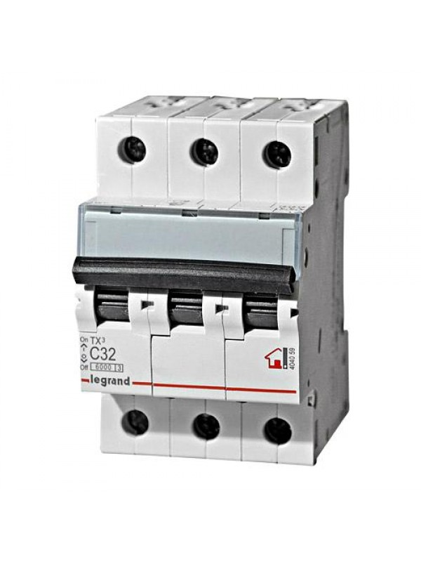 Автомат C 10А 3P 6кА (Legrand 404054)