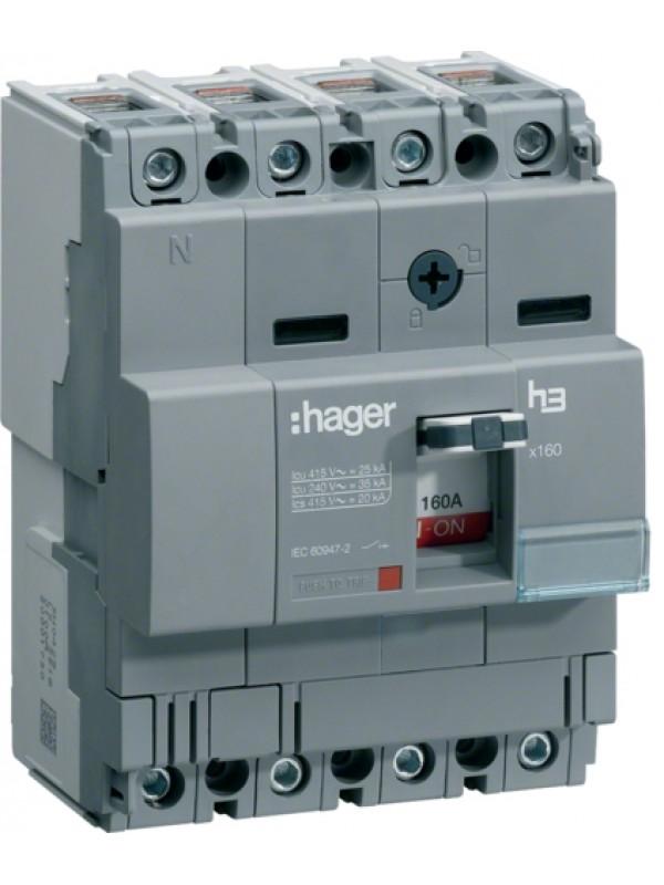 Корпусный автомат на 63А 4P 18кА (Hager HDA064L)