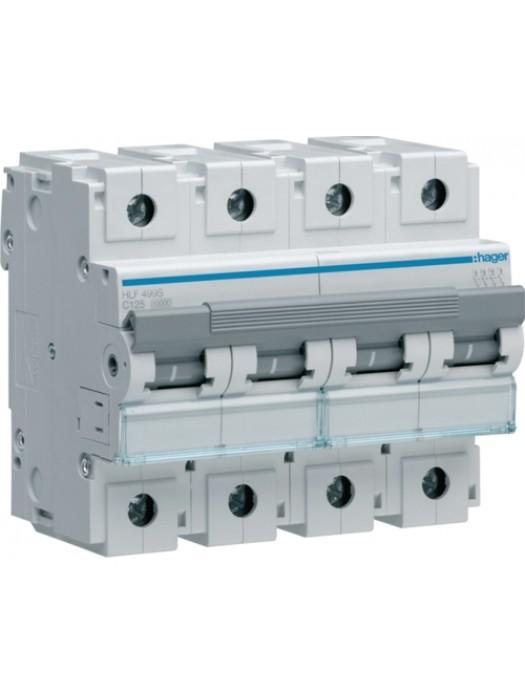Автомат на 100А 4P 10кА класс C (Hager HLF490S)