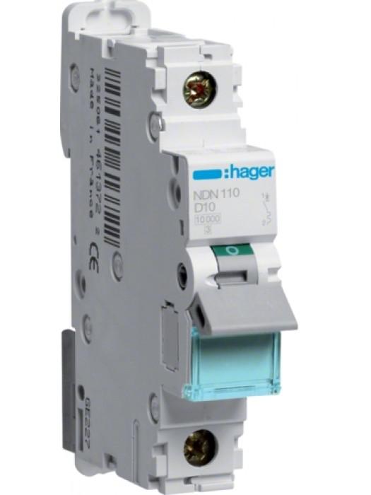 Автомат на 1А 1P 10кА класс D (Hager NDN101)