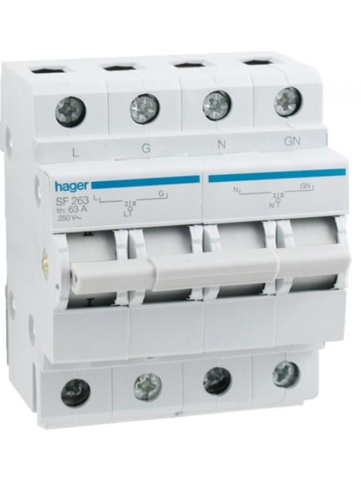 Переключатель I-0-II ввода резерва 63А (Hager SF263)