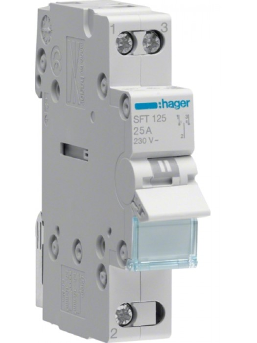 Переключатель I-0-II 32А выход сверху (Hager SFT132)