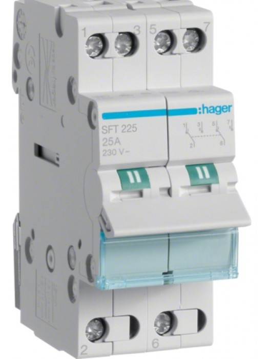 Переключатель I-0-II 40А выход сверху (Hager SFT240)
