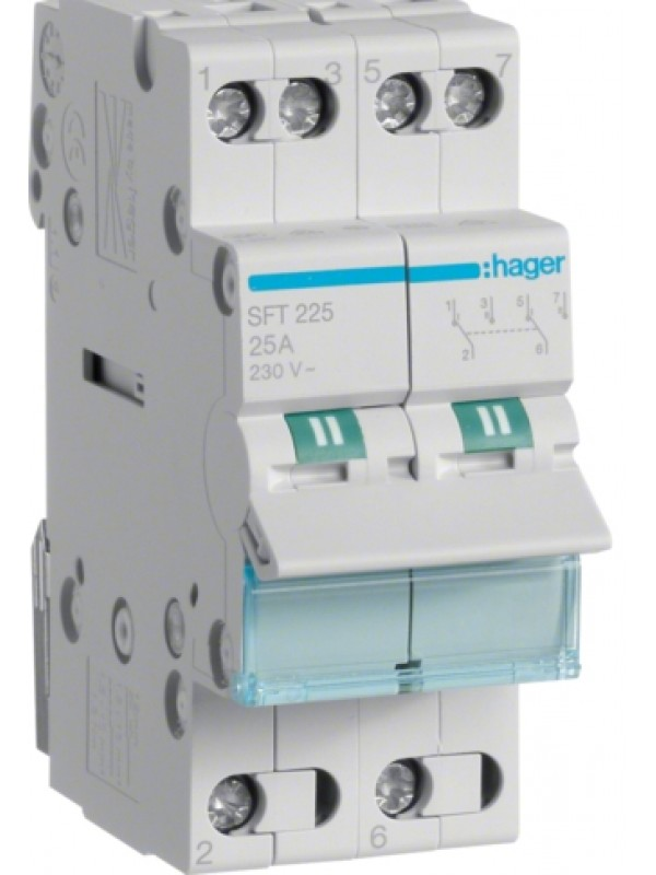 Переключатель I-0-II 25А выход сверху (Hager SFT225)