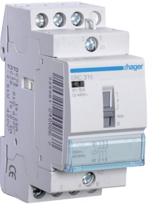 Реле промежуточное 16А 3НО 230В (Hager ERC316)