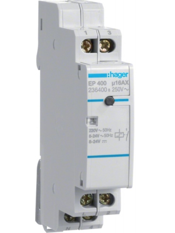 Реле импульсное электронное 230В 1НО 16А (Hager EP400)