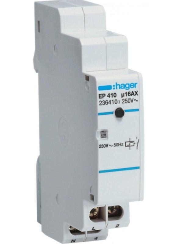 Реле импульсное электронное 230В 1НО 16А (Hager EPN410)