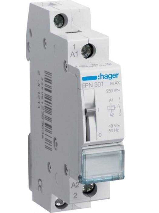Реле импульсное 12В 1НО 16А (Hager EPN511)