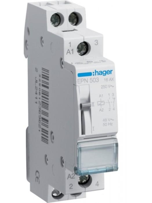 Реле импульсное 48В 1НО+1НЗ 16А (Hager EPN503)