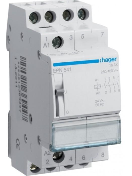 Реле импульсное 230В 4НО 16А (Hager EPN540)