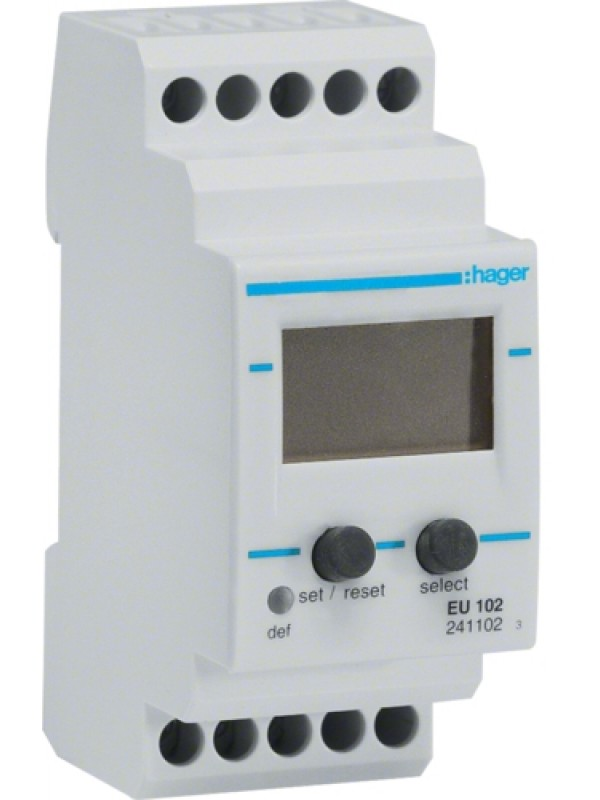 Реле контроля напряжения 230В 1P вольтметр (Hager EU102)