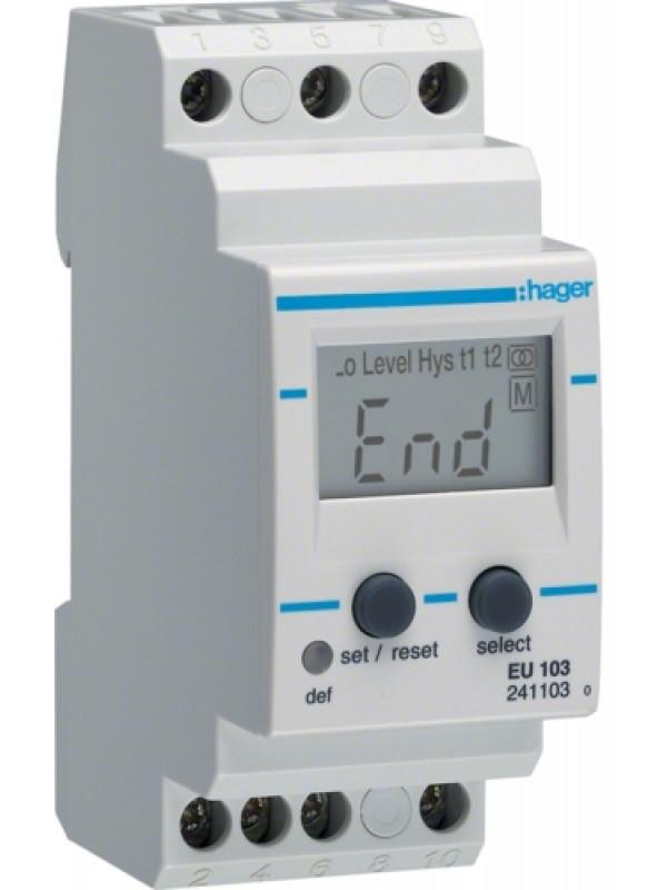Реле контроля напряжения 230В 1P амперметр (Hager EU103)