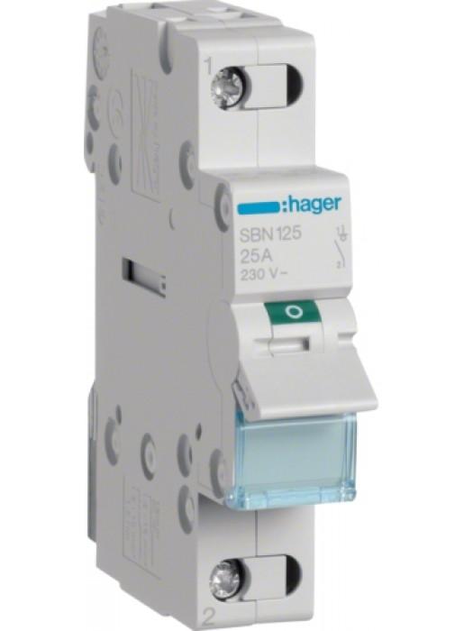Выключатель на 25А 1P (Hager SBN125)