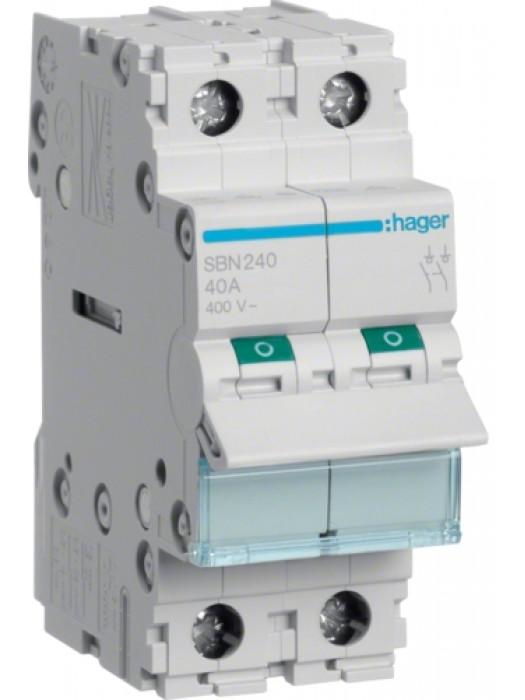 Выключатель на 63А 2P (Hager SBN263)