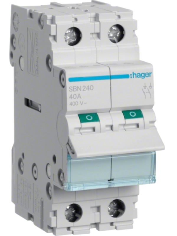 Выключатель на 40А 2P (Hager SBN240)