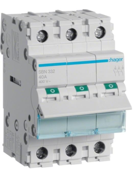 Выключатель на 80А 3P (Hager SBN380)