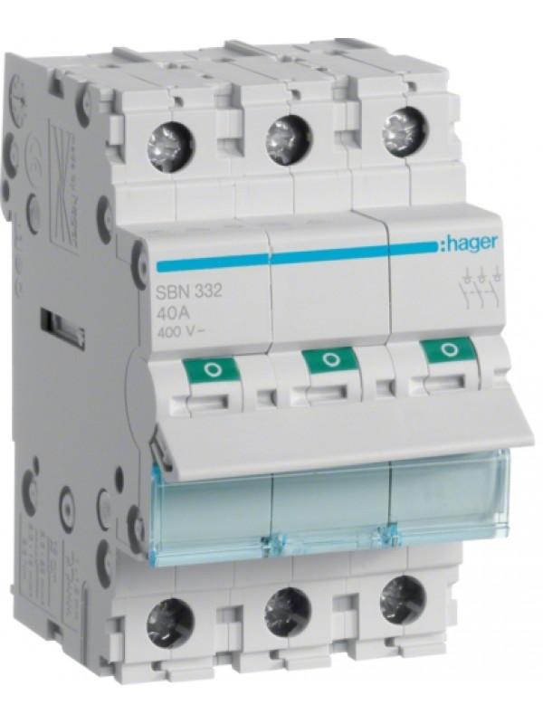 Выключатель на 40А 3P (Hager SBN340)