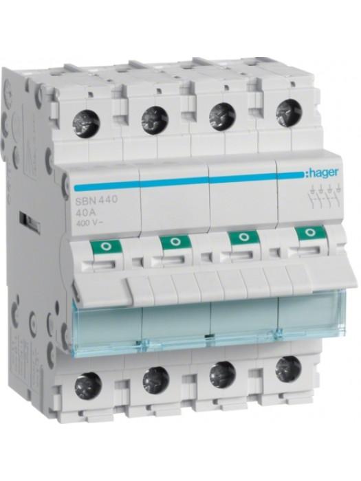 Выключатель на 100А 4P (Hager SBN490)