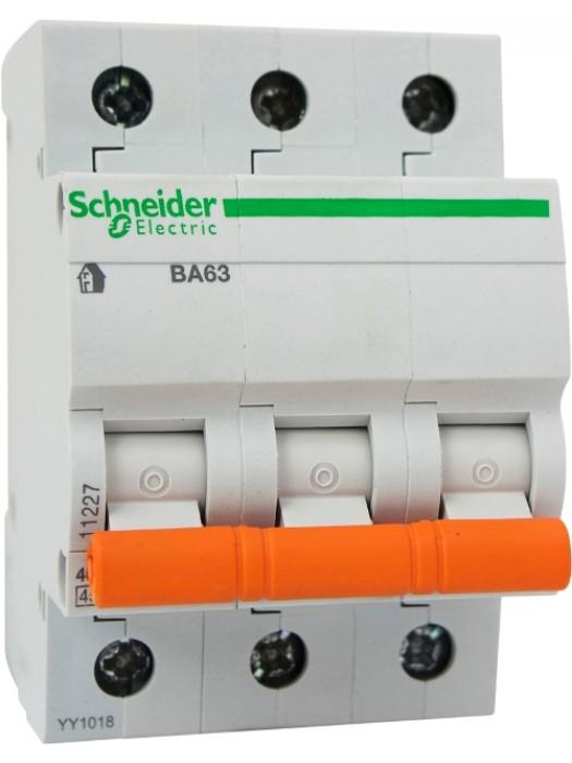 Автомат на 10А 3П 4,5кА класс С (Schneider 11222)