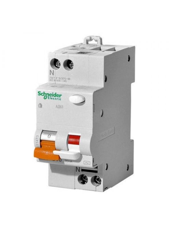 Дифавтомат на 25А 1+N 300mA  класса С (Schneider 11471)