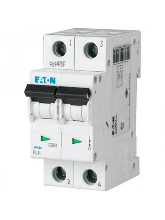 Автомат на 50А 2P 4,5кА класс С (Eaton PL4 293147)