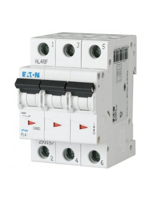 Автомат на 40А 3P 4,5кА класс B (Eaton PL4 293155)