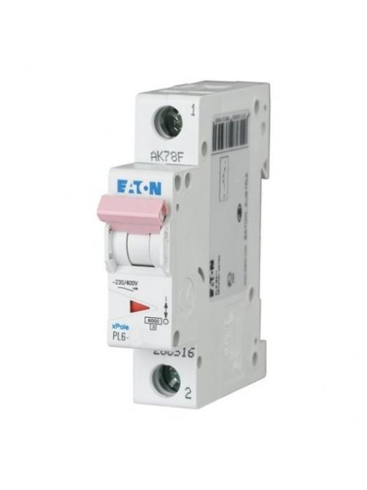 Автомат на 4А 1P 6кА класс B (Eaton PL6 286517)