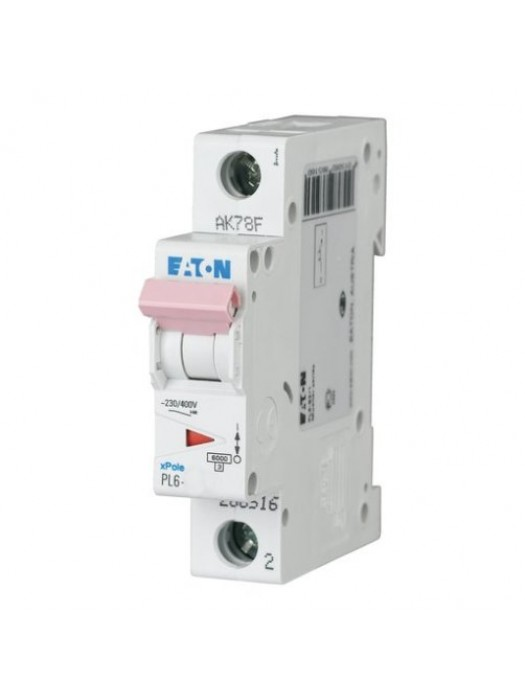 Автомат на 13А 1P 6кА класс D (Eaton PL6 286544)