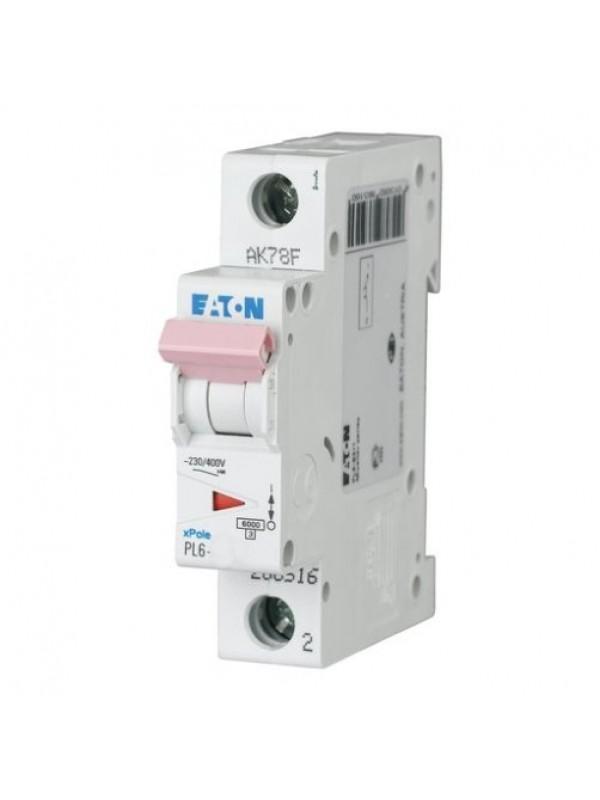 Автомат на 2А 1P 6кА класс B (Eaton PL6 286516)