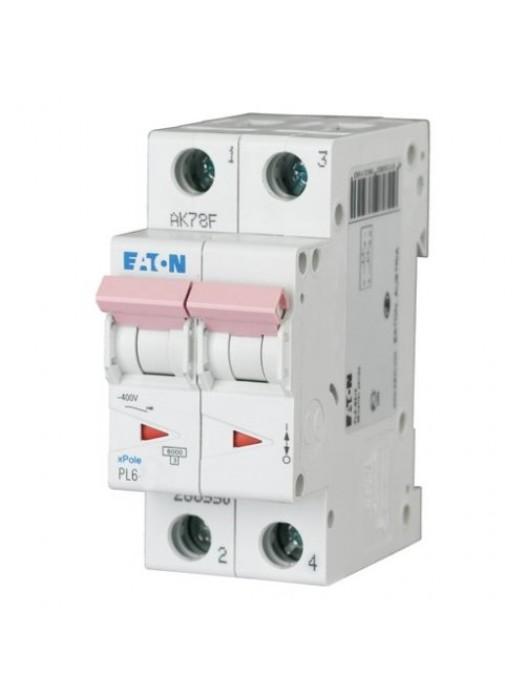 Автомат на 63А 2P 6кА класс B (Eaton PL6 286561)