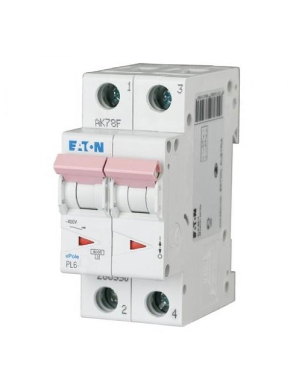 Автомат на 20А 2P 6кА класс D (Eaton PL6 286580)