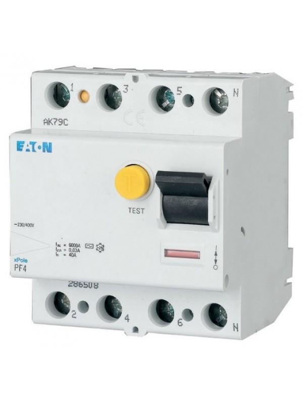 УЗО на 63А 4N 30mA тип АС 4.5кА (Eaton PF4 293177)