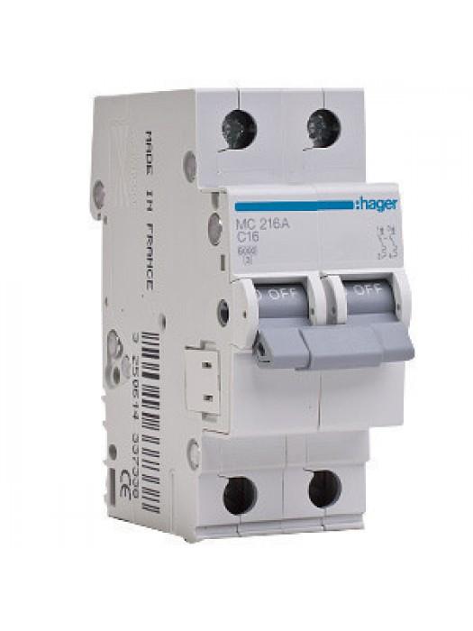 Автомат C 6А 1p+N 6кА (Hager MC506A)