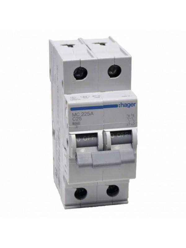Автомат C 10А 2P 6кА (Hager MC210A)