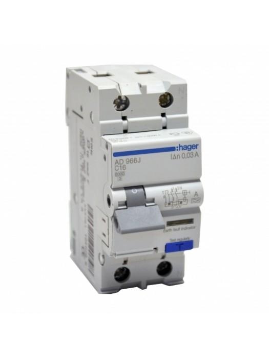 Дифавтомат 32А 1P+N 30mA C (Hager AD982J)