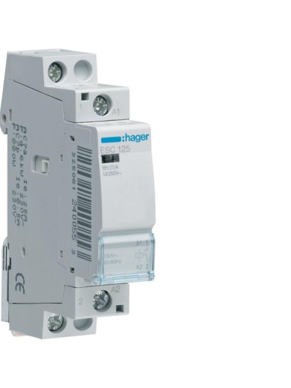 Контактор напряжением 24В на 25A 1НО (Hager ESD125)