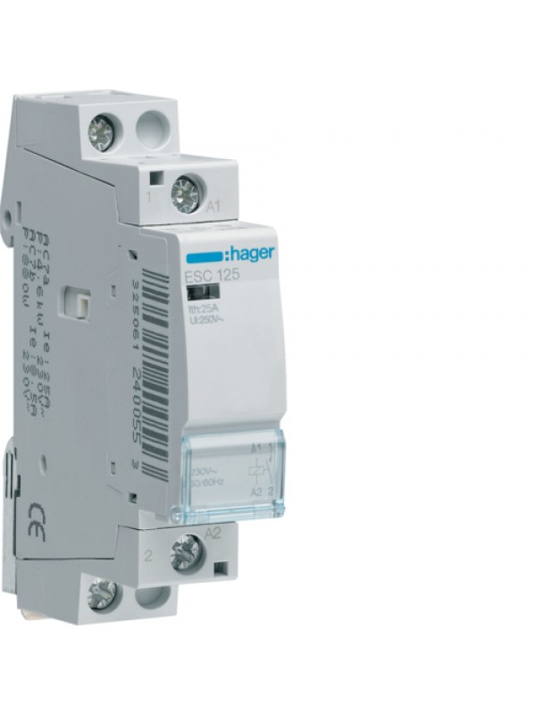 Контактор 25A/230В 1НО (Hager ESC125)