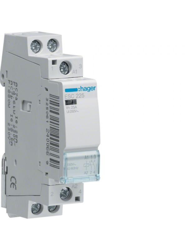 Контактор напряжением 24В на 25A 2НО (Hager ESD225)