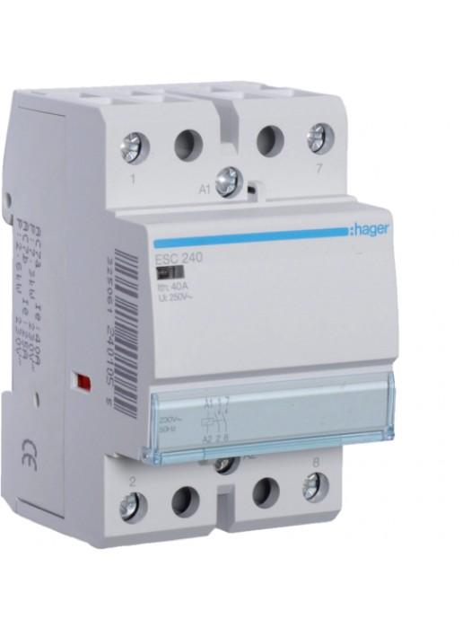 Контактор напряжением 24В на 40A 2НЗ (Hager ESD241)