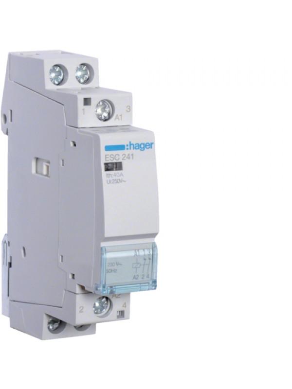 Контактор напряжением 24В на 40A 2НО (Hager ESD240)