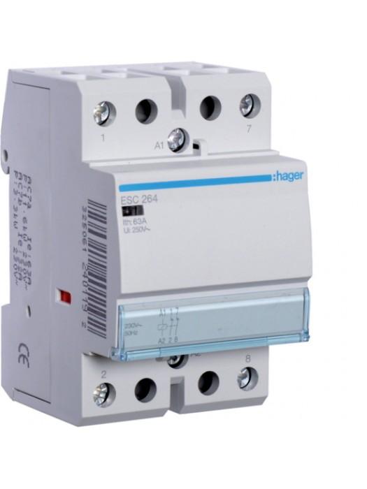 Контактор напряжением 24В на 63A 2НЗ (Hager ESD264)
