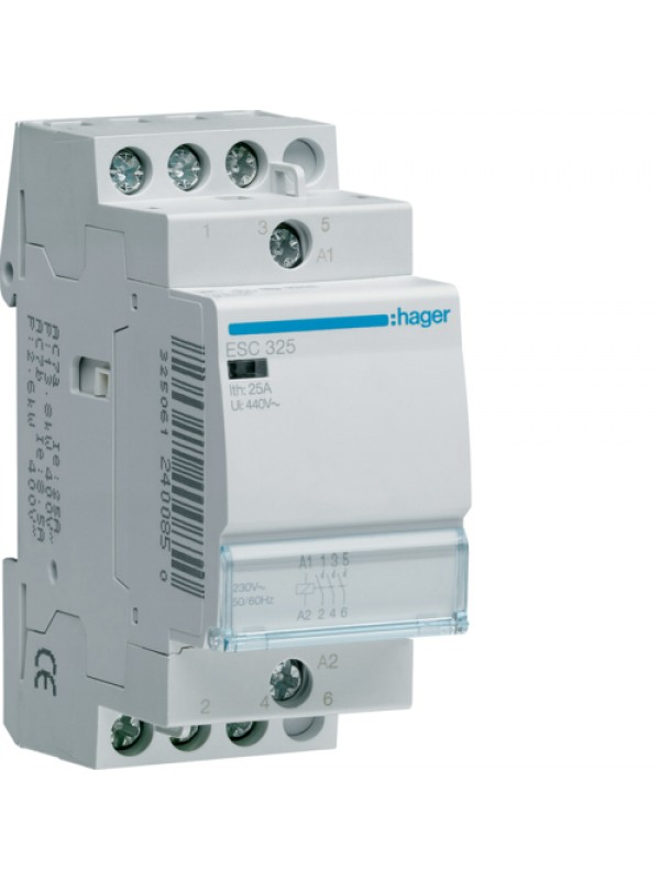 Контактор 25A/230В 3НО (Hager ESC325)