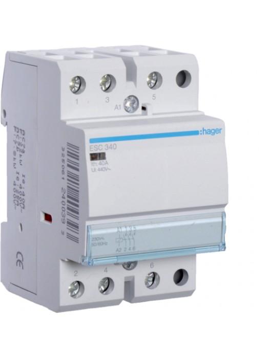 Контактор 40A/230В 3НО (Hager ESC340)