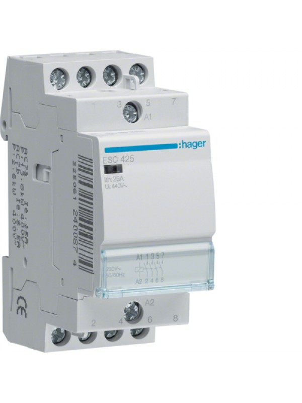 Контактор 25A/230В 4НО (Hager ESC425)