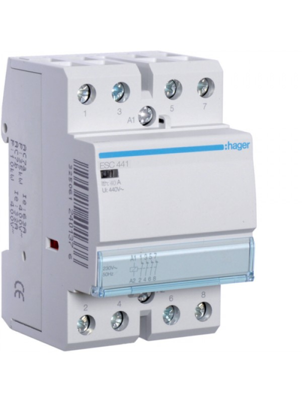 Контактор 40A/230В 4НЗ (Hager ESC441)