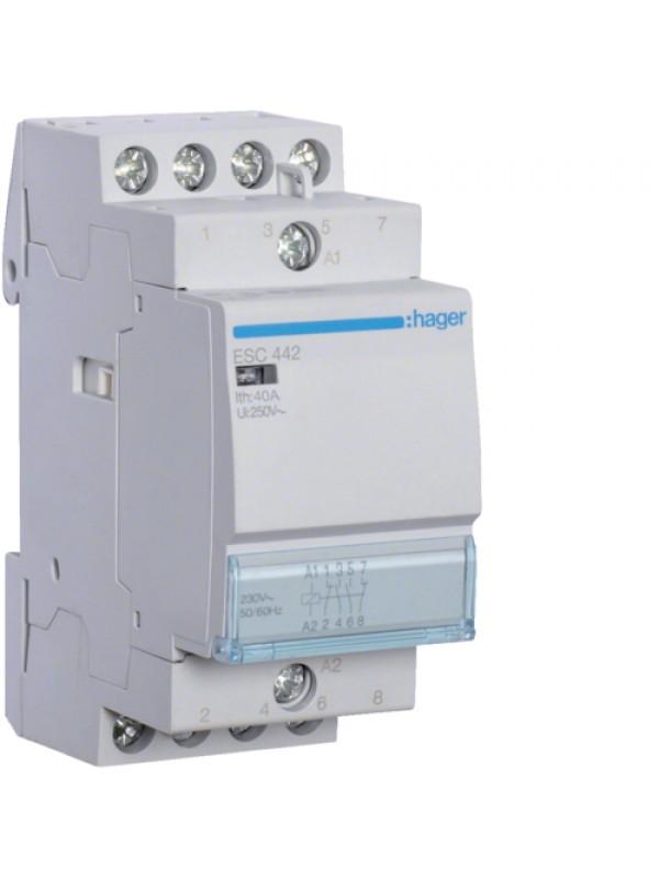 Контактор 40A/230В 2НО+2НЗ (Hager ESC442)