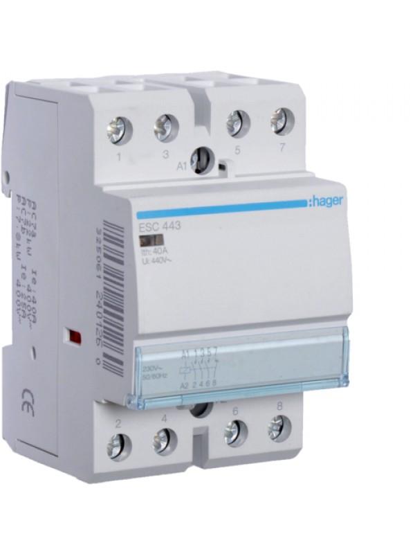 Контактор напряжением 24В на 63A 4НЗ (Hager ESD464)