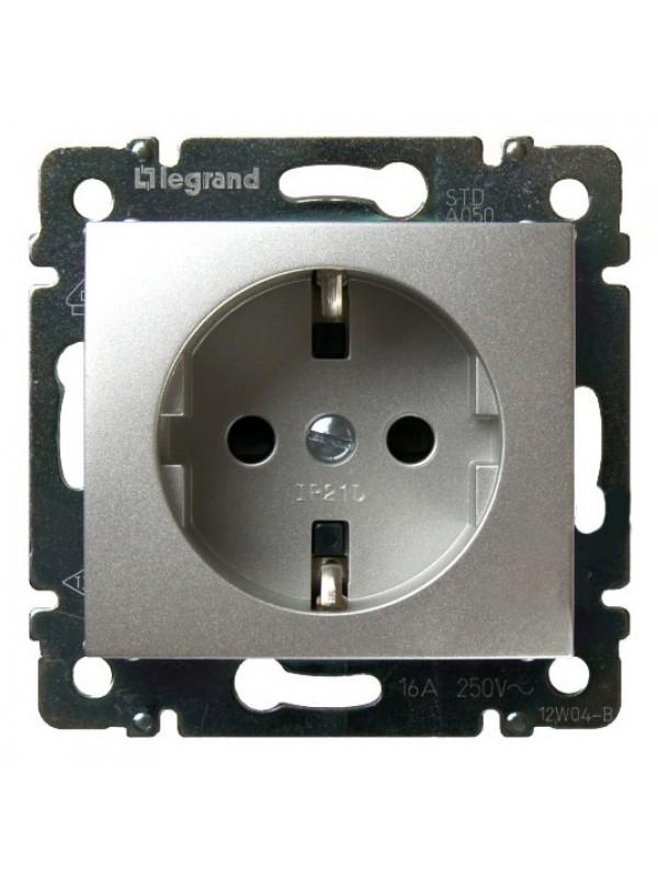 Розетка электрическая с заземлением Valena (Legrand 770120)