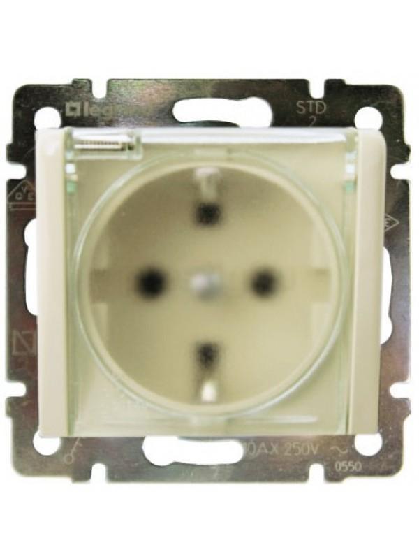 Розетка электрическая с крышкой и влагозащитой IP44 Valena (Legrand 774120)
